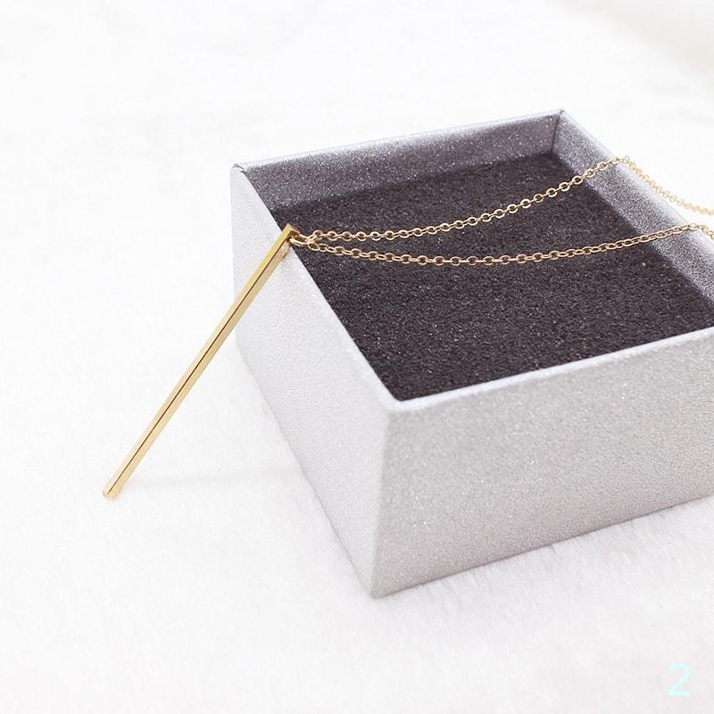 Plated Square Copper Stick Long Chain Jewelry