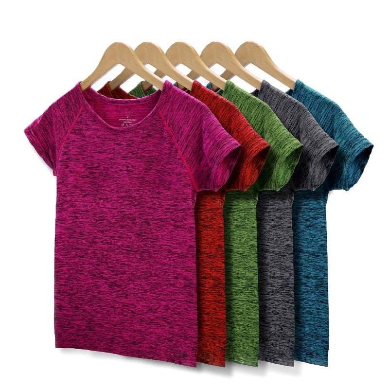 Yoga Tops Short Sleeve Shirt Quick Dry Sweat Breathable