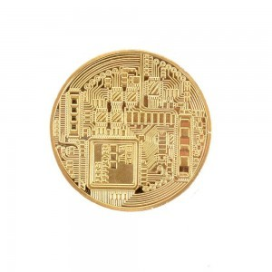 Gold Bitcoin Commemorative Digital Currency Coins