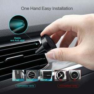Magnetic car mount cell phone holder clear line of sight for safe driving