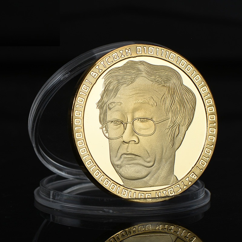 Satoshi Nakamoto Gold Bitcoin Collectible Commemorative