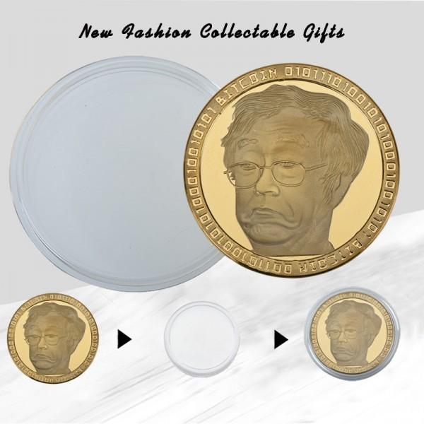 Satoshi Nakamoto Gold Bitcoin Collectible Commemorative Coins