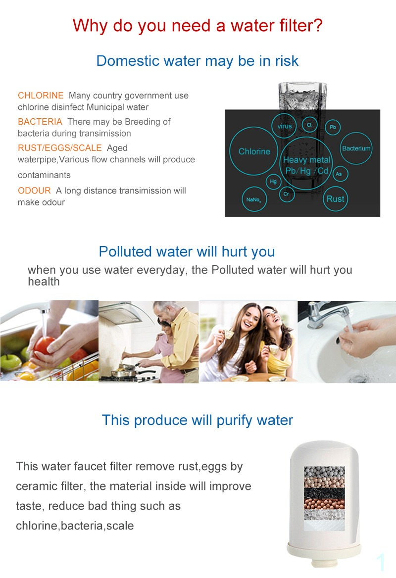 Tap water purifier activated carbon filter alkaline water ionizer remove contaminants