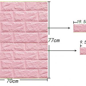 3D wall stickers decorate self adhesive foam bricks wallpaper