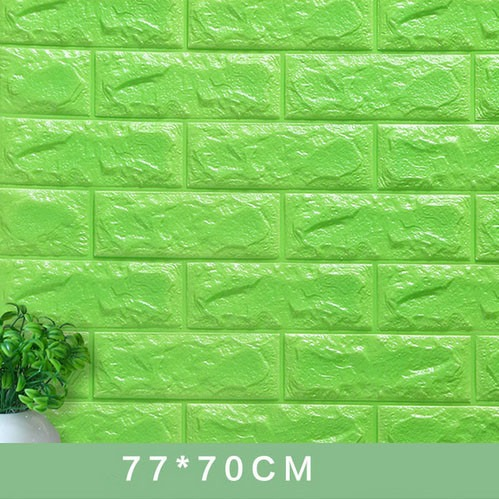 3D wall stickers decorate self adhesive foam bricks wallpaper
