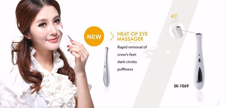 Eye massager thermal 42° eye care device remove wrinkles dark circles puffiness