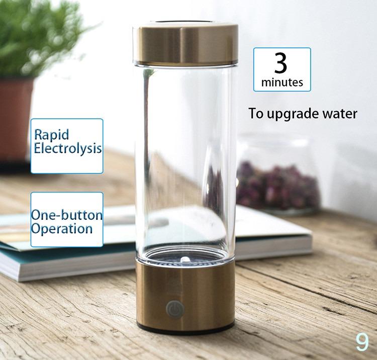 Hydrogen water maker alkaline water ionizer bottle rechargeable