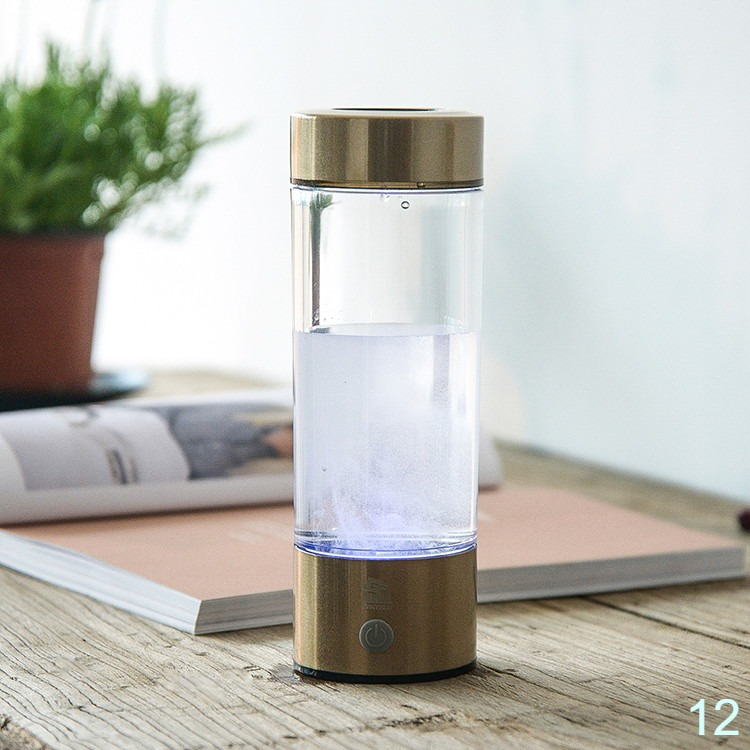 Hydrogen water maker alkaline water ionizer bottle rechargeable