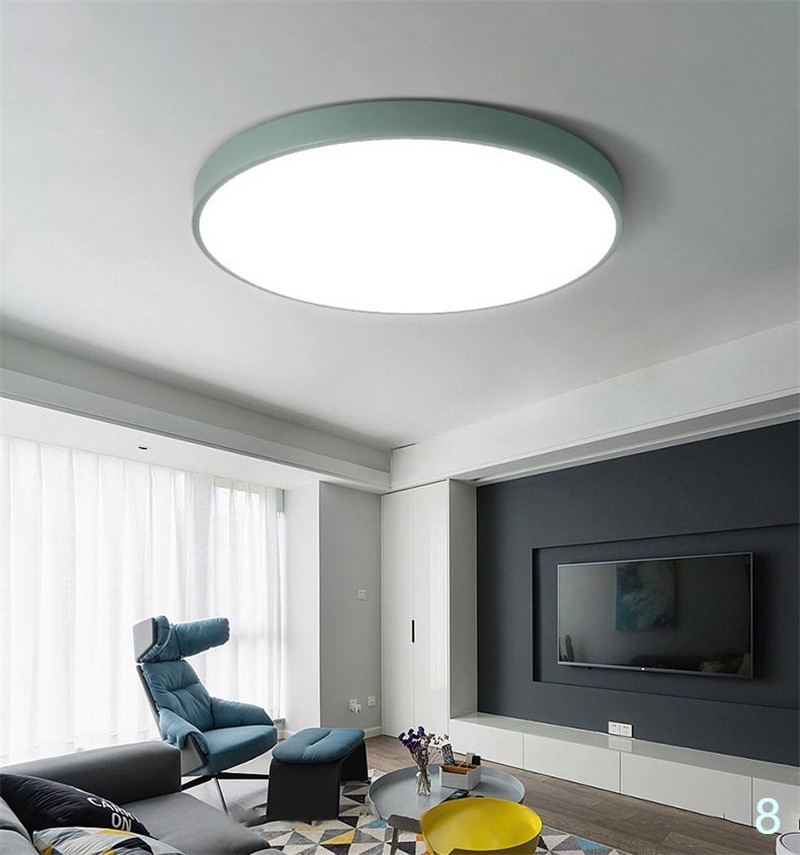 Led Ceiling Lamps Ultra Thin 5cm Multi Color Modern Ceiling Lights