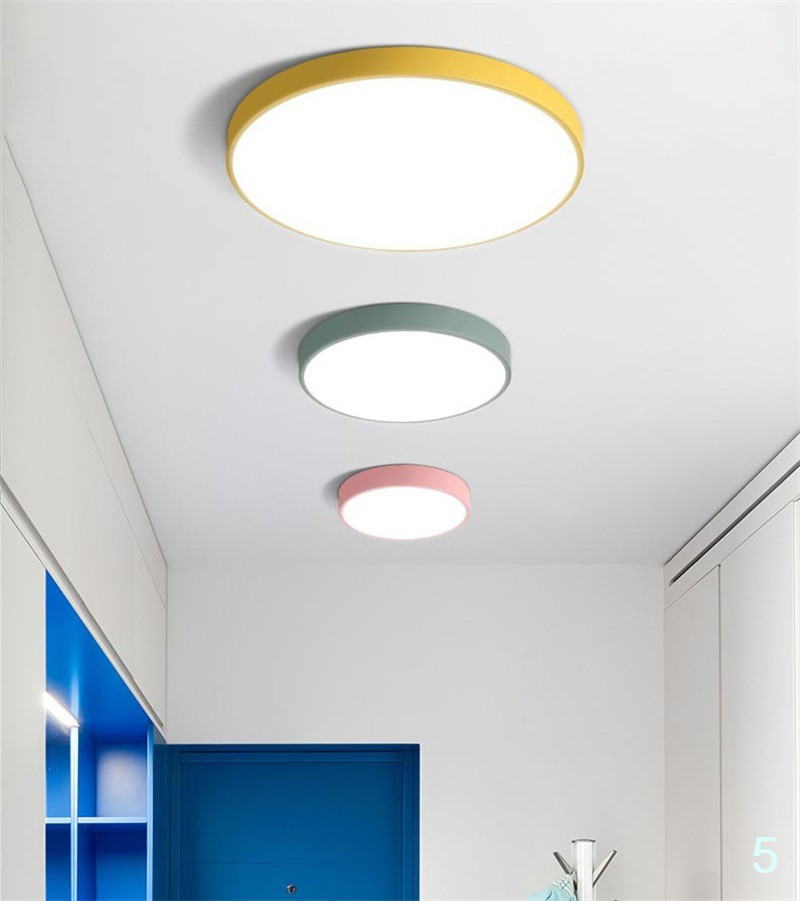 LED ceiling lamps ultra-thin 5cm multi-color simplified modern ceiling lights