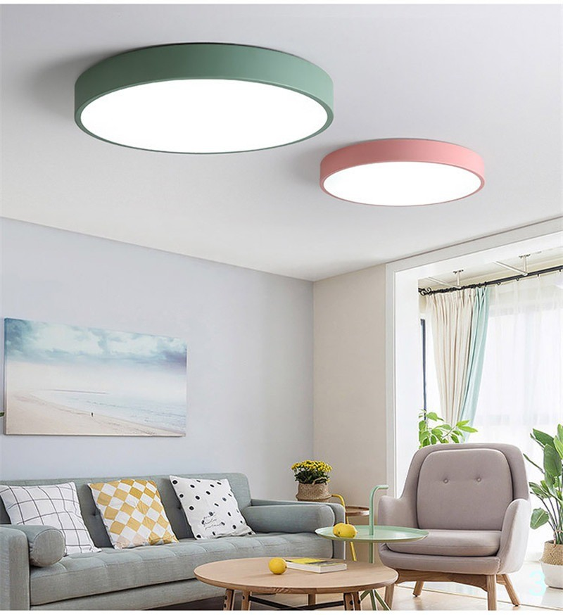 15 Ultra Modern Ceiling Designs For Your Master Bedroom: LED Ceiling Lamps Ultra-thin 5cm Multi-color Modern
