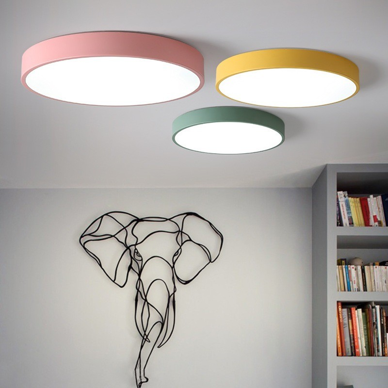 LED Ceiling Lamps Ultra-thin 5cm Multi-color Modern