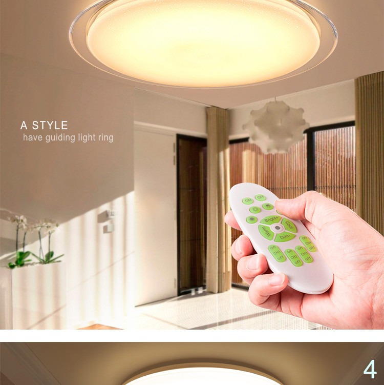 Remote control dimmable color change ceiling lamp 25w 60w