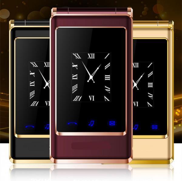 "Elderly phones clamshell phones flip dual screen 3.0"" touch screen"