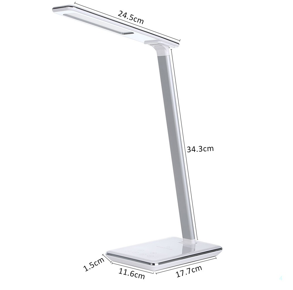 Led Desk Lamp Wireless Charging Table Lamp 4 Light Colors
