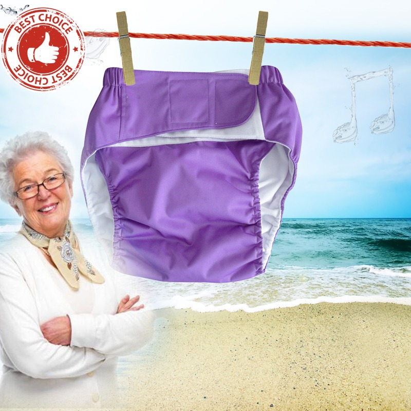 Adult diapers adjustable washable reusable waterproof for elderly or disabled