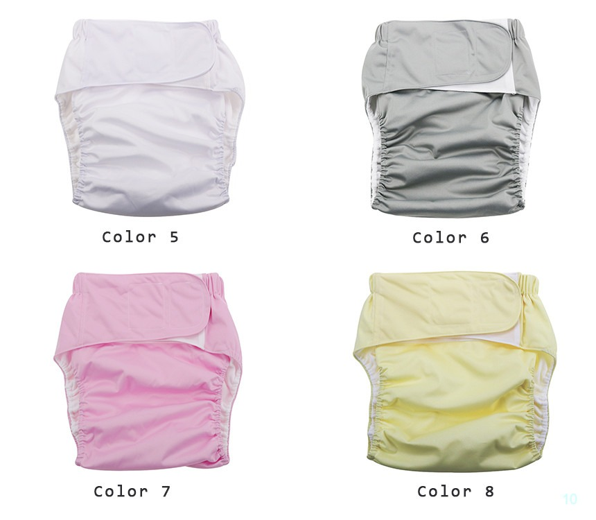 Diapers adjustable washable reusable waterproof for elderly or disabled