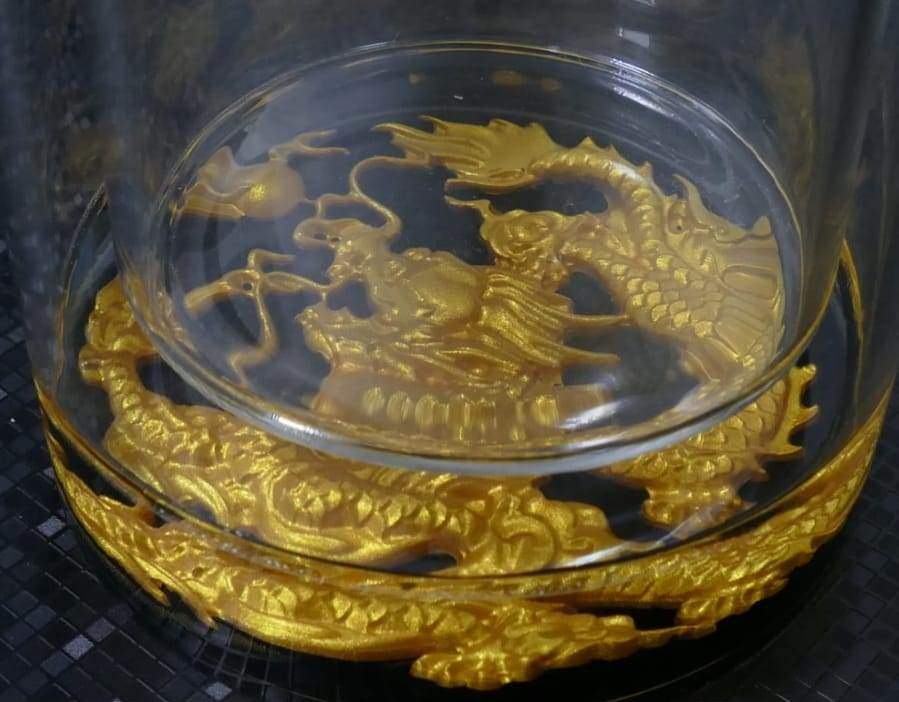 Embossed crystal glass Fuguang | 富光浮雕水晶玻璃杯