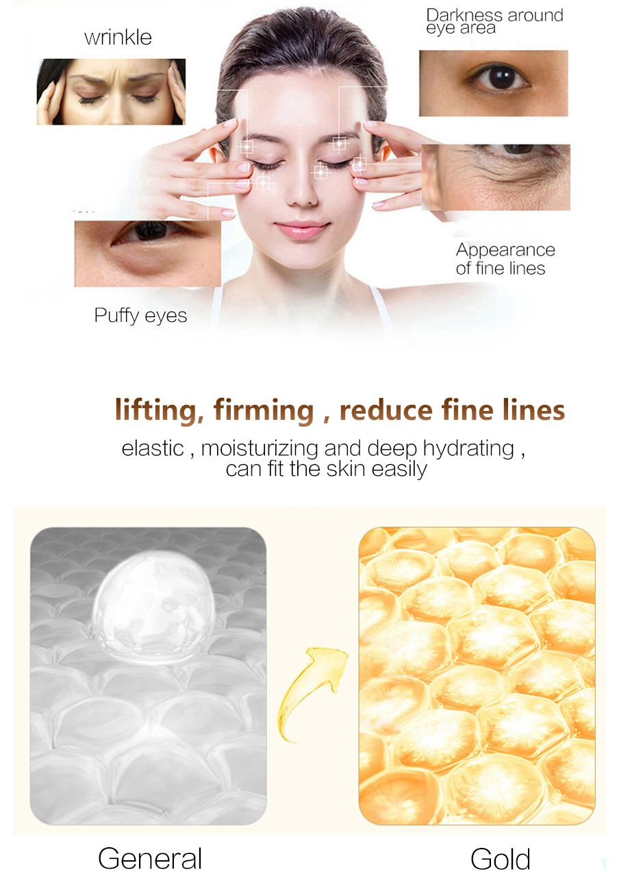 Eye mask crystal collagen remove dark circles anti-puffiness cream 20pcs eye patches