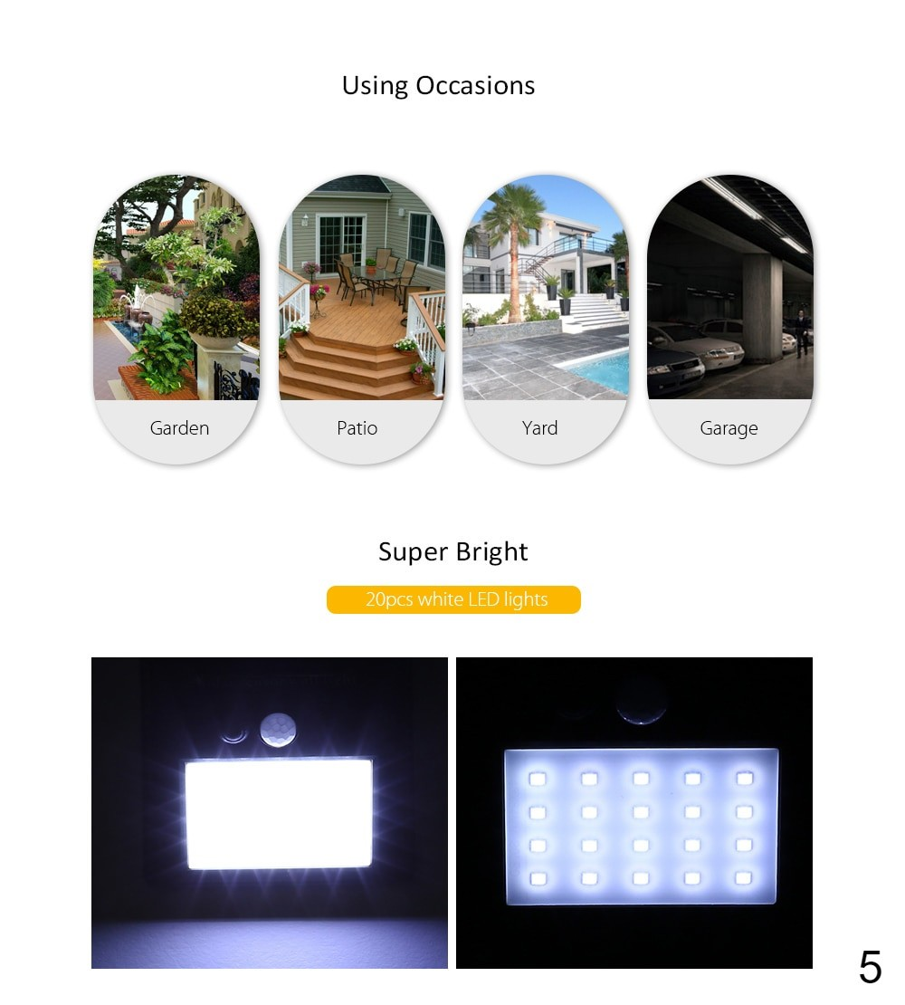 Solar Lights can be used on varies occasions