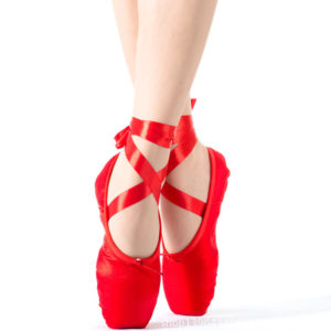 Ballet Dance Shoes With Ribbons For Ladies