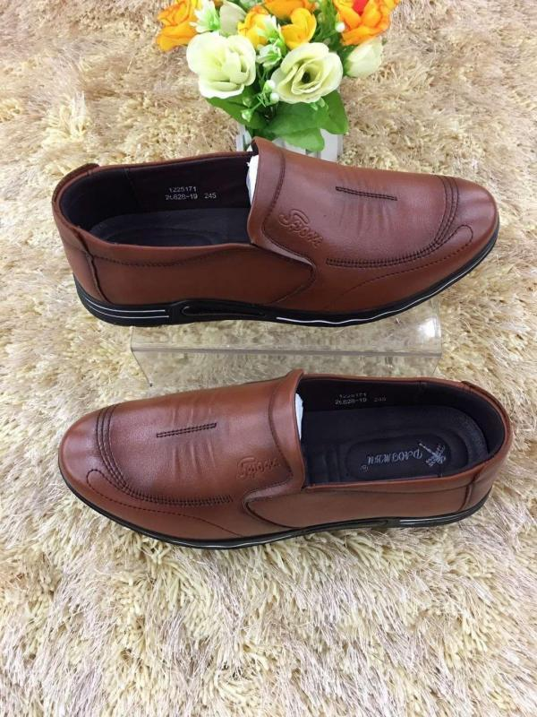 Handmade leather shoes for men - no shoelace , black and brown color available