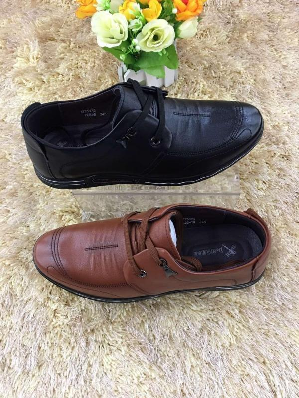 Handmade leather shoes for men - with shoelace , black and brown color available