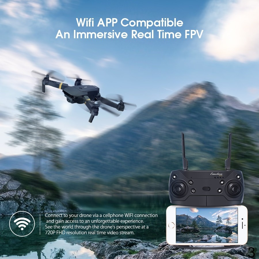 RC Quadcopter Drone Foldable with HD Camera