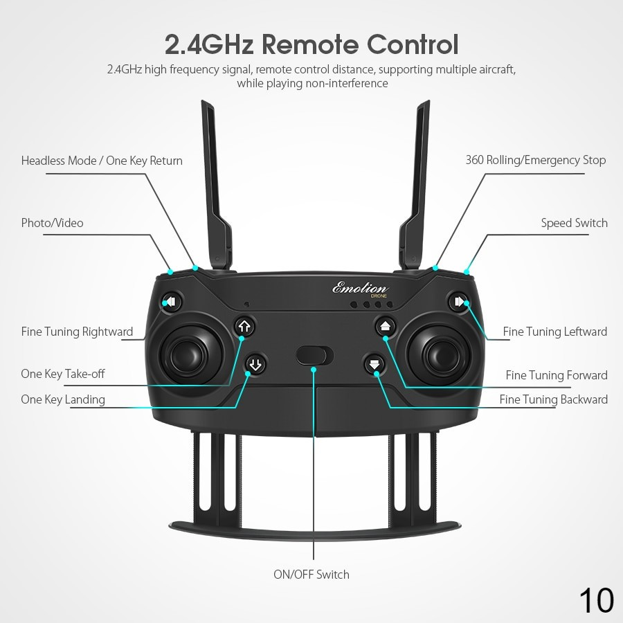 Remote control - RC Quadcopter Drone Foldable with HD Camera