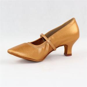Women Standard Dance Shoes Pigskin Leather Soft Sole