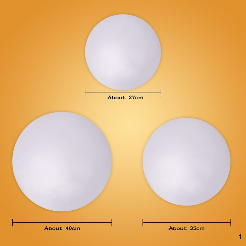 Size of Dimmable LED lights circular shape
