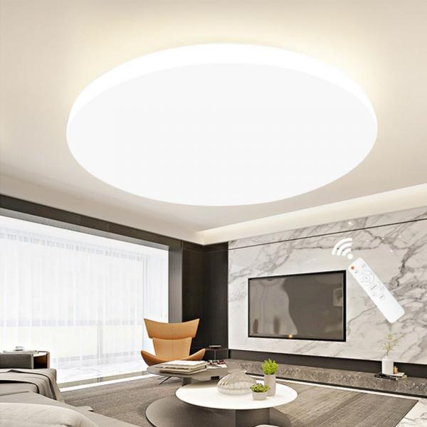 Dimmable LED ceiling lights circular shape remote controller