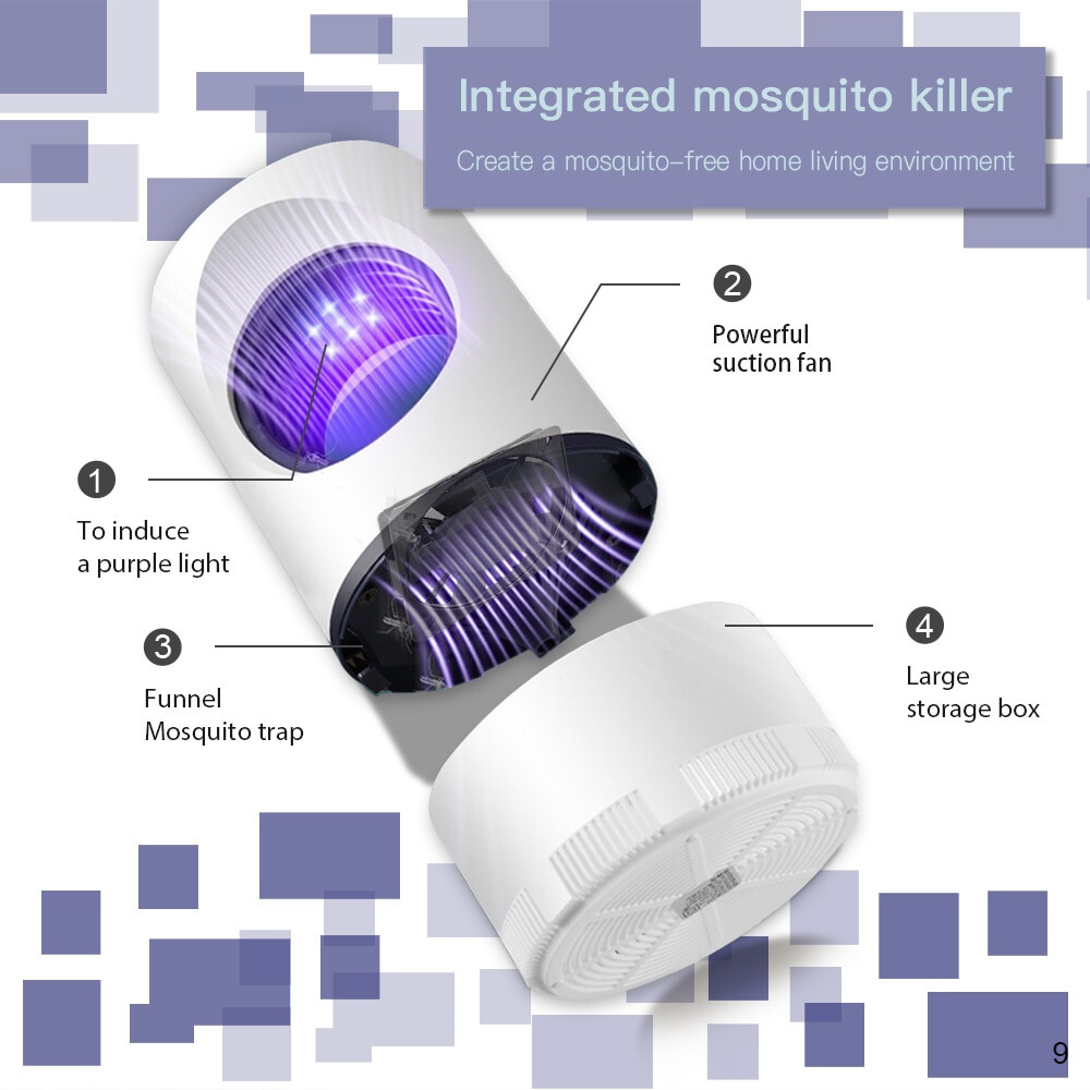 integrated Mosquito killer light with powerful fan