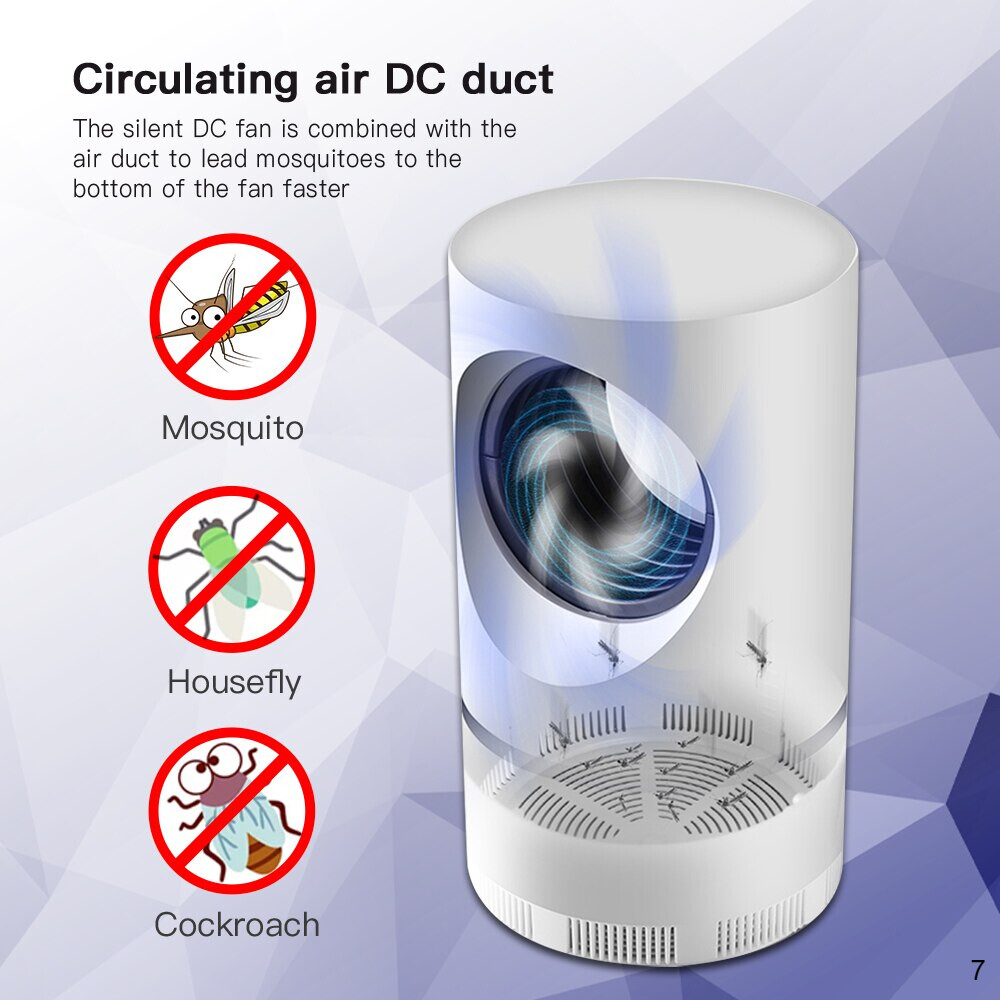 circulating air DC duct of Mosquito UV light
