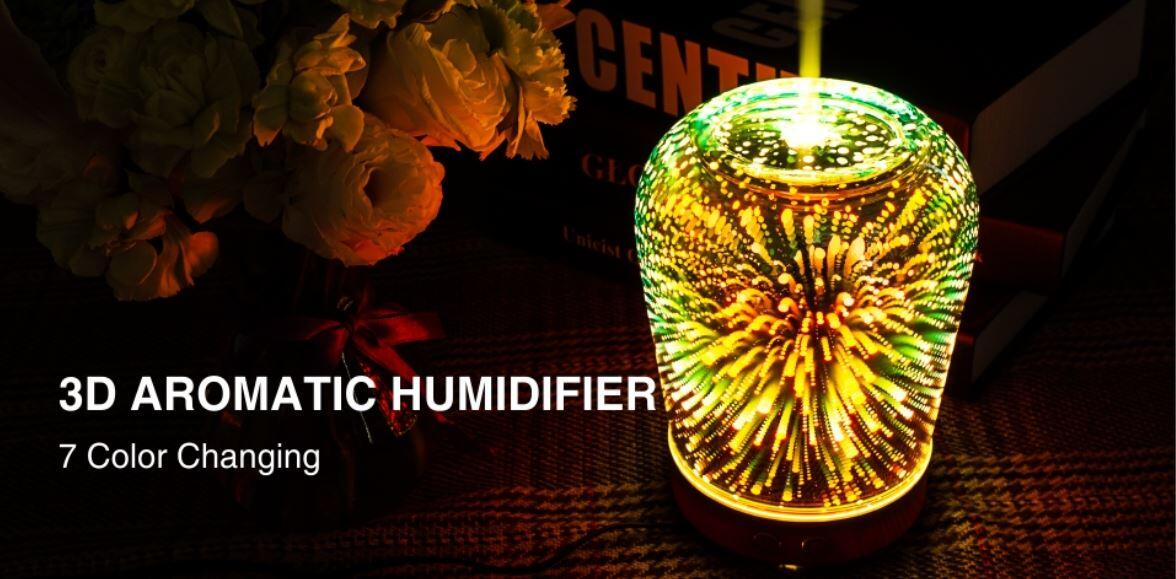 3D aromatic diffuser with 7 color changing