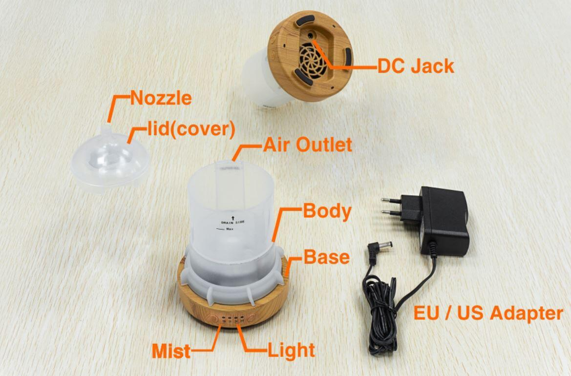 product details of LED 3D aromatic humidifier night light mist