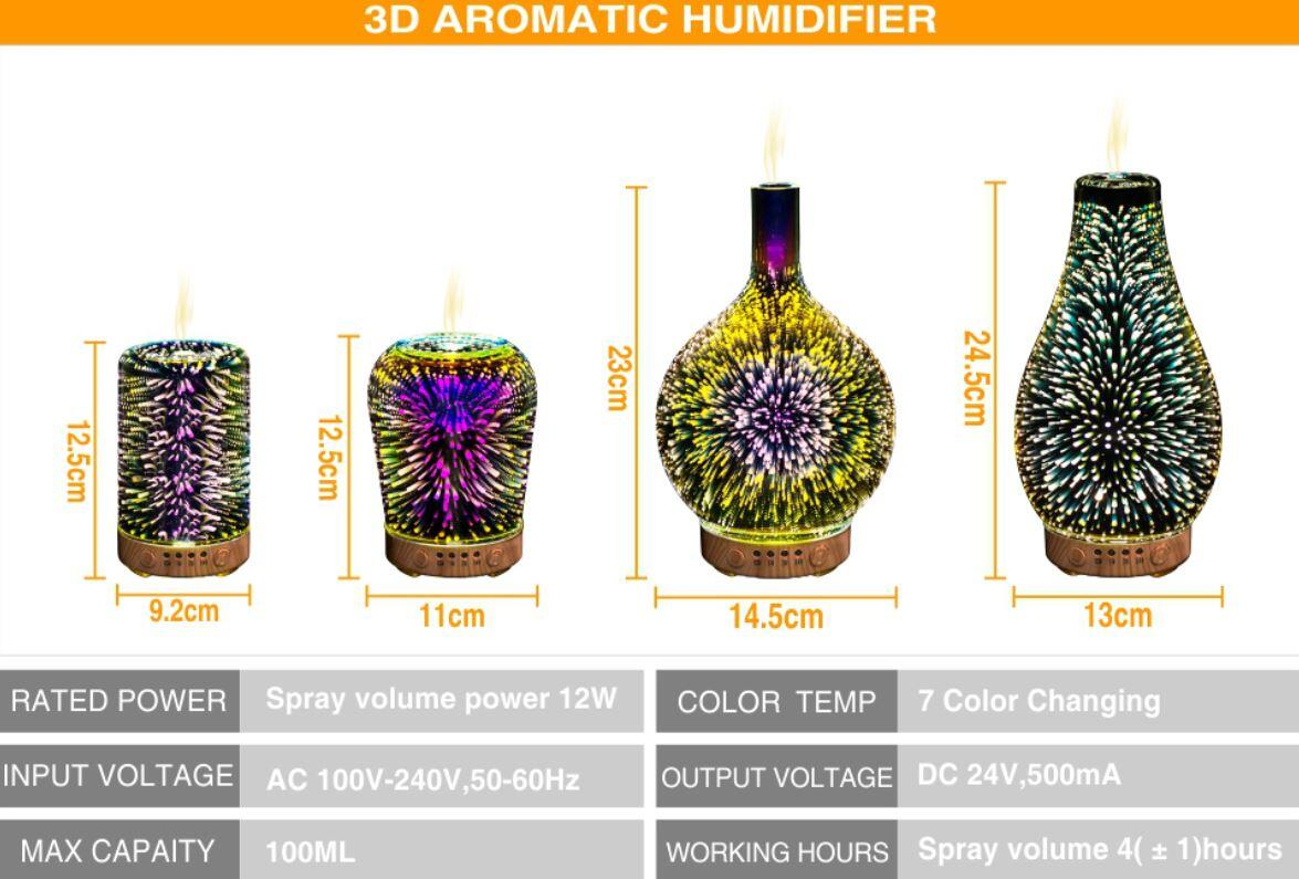 Product parameters of LED aromatic diffuser