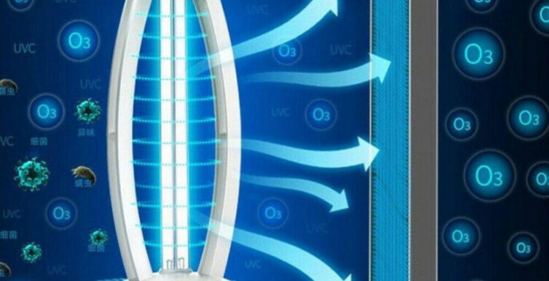 Ultraviolet disinfection lamp sterilizer light