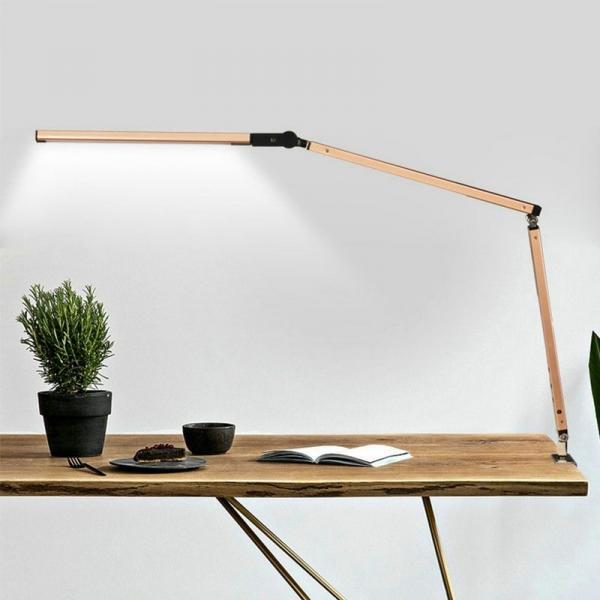 Long arm LED lamp desk swing dimmable energy saving
