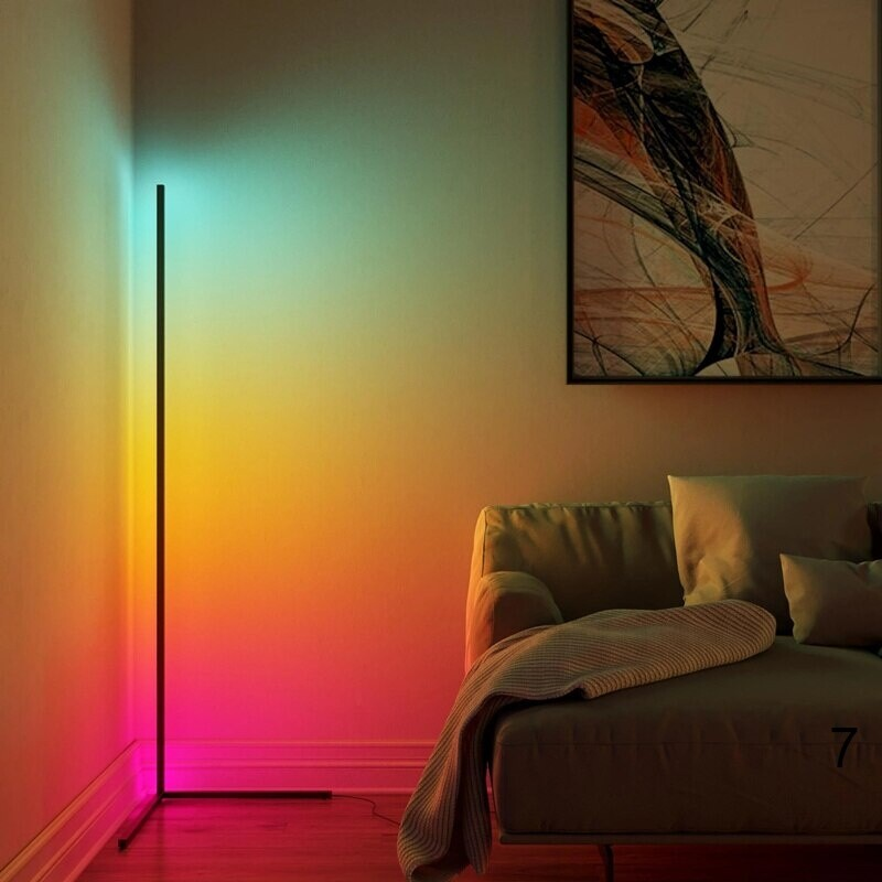beautiful orange and pink colors light in the corner