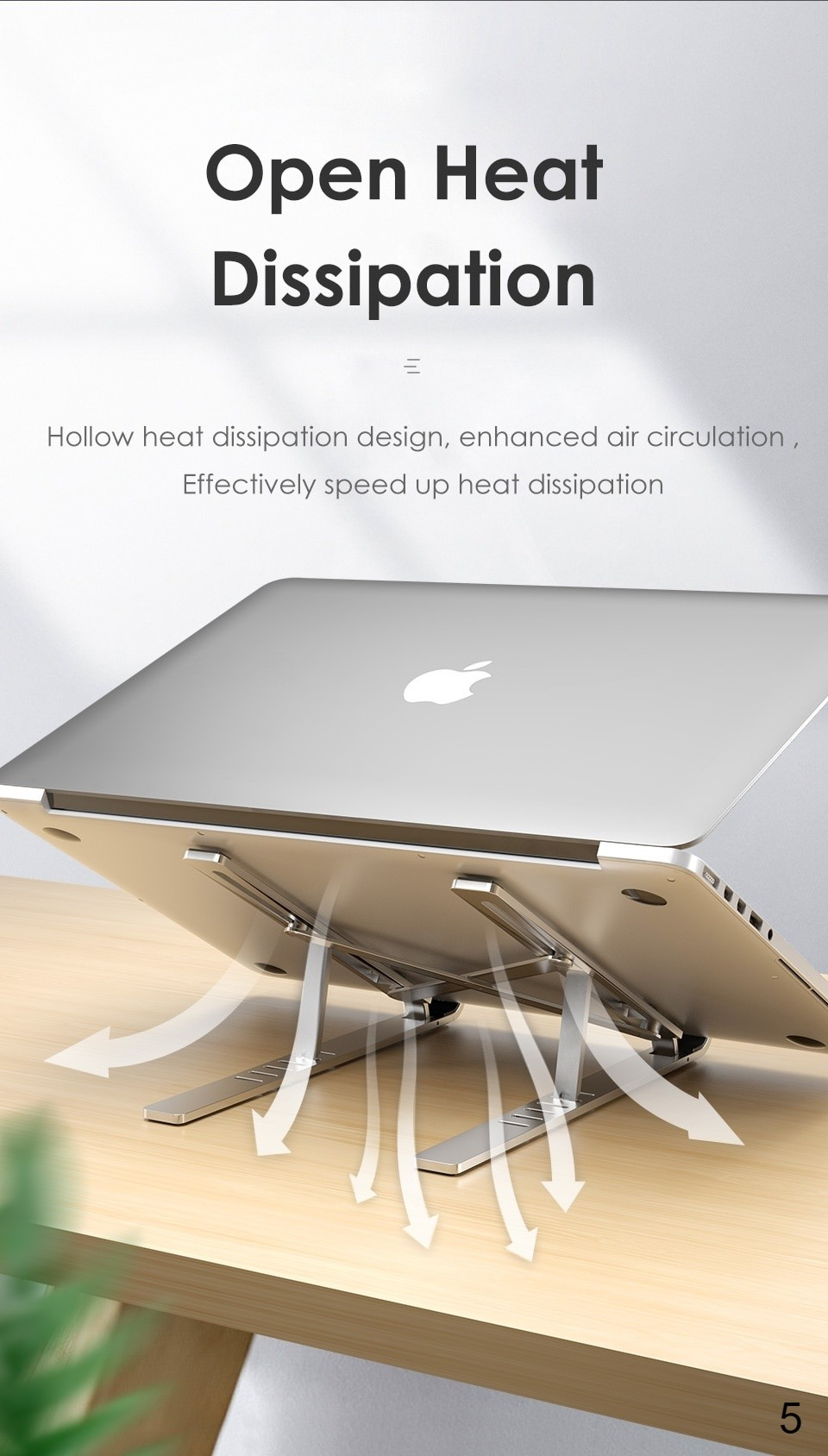 This Laptop holder provide laptop effective open heat dissipation
