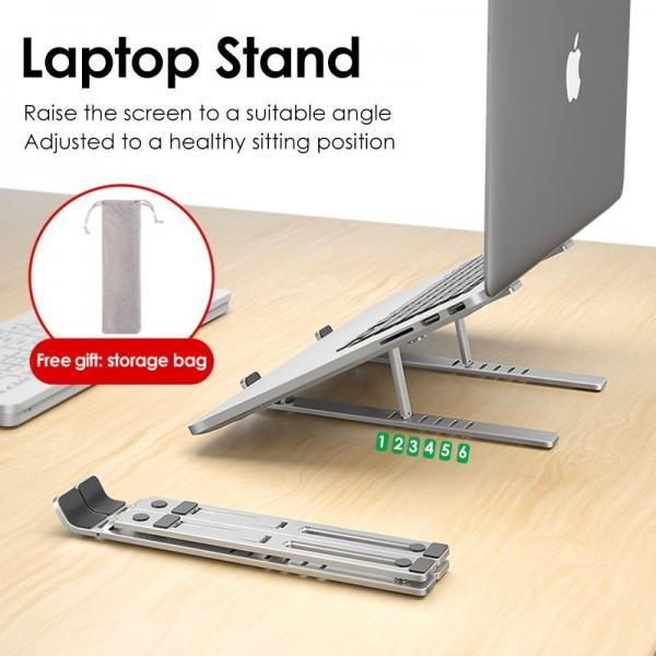 Foldable laptop stand for MacBook notebook correct sitting posture