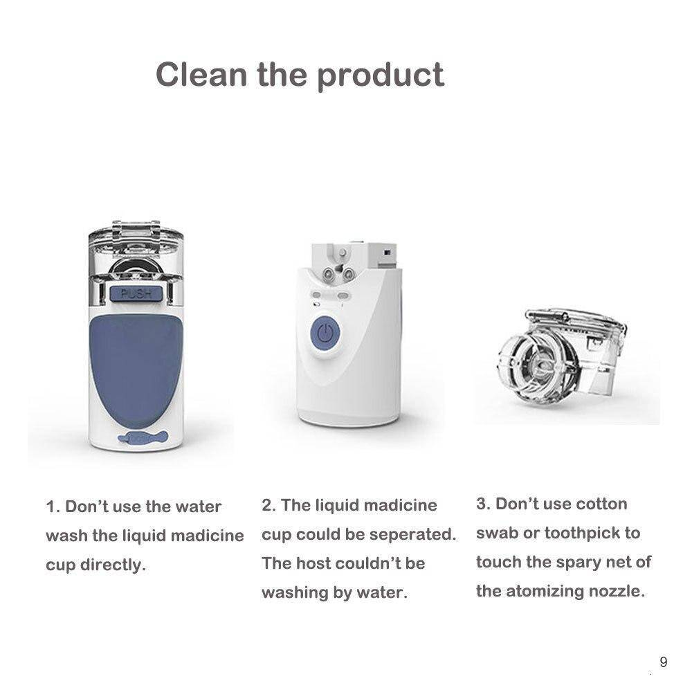 How to clean the portable nebulizer?