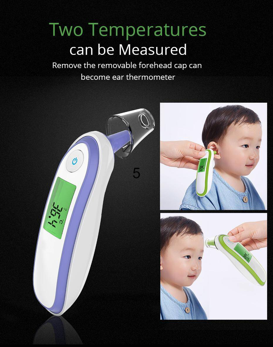 Two mode of measurement - Infrared digital thermometer non-contact forehead and ear thermometer