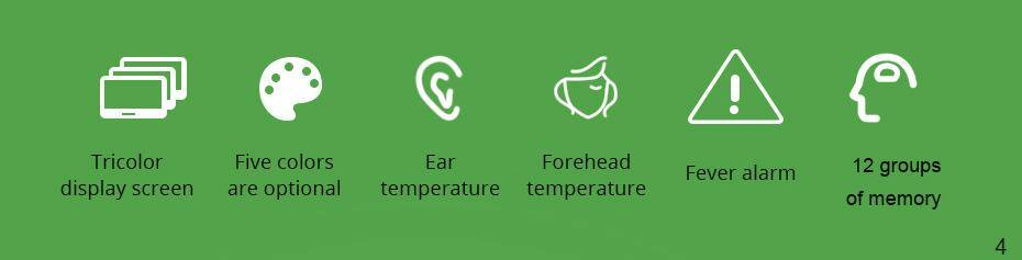 features of Infrared digital thermometer non-contact forehead and ear thermometer