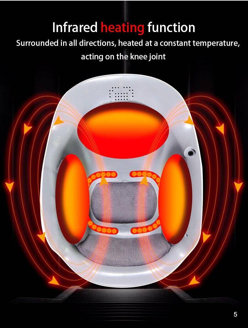 infrared heating function of the Laser knee massage knee pain relief physiotherapy device