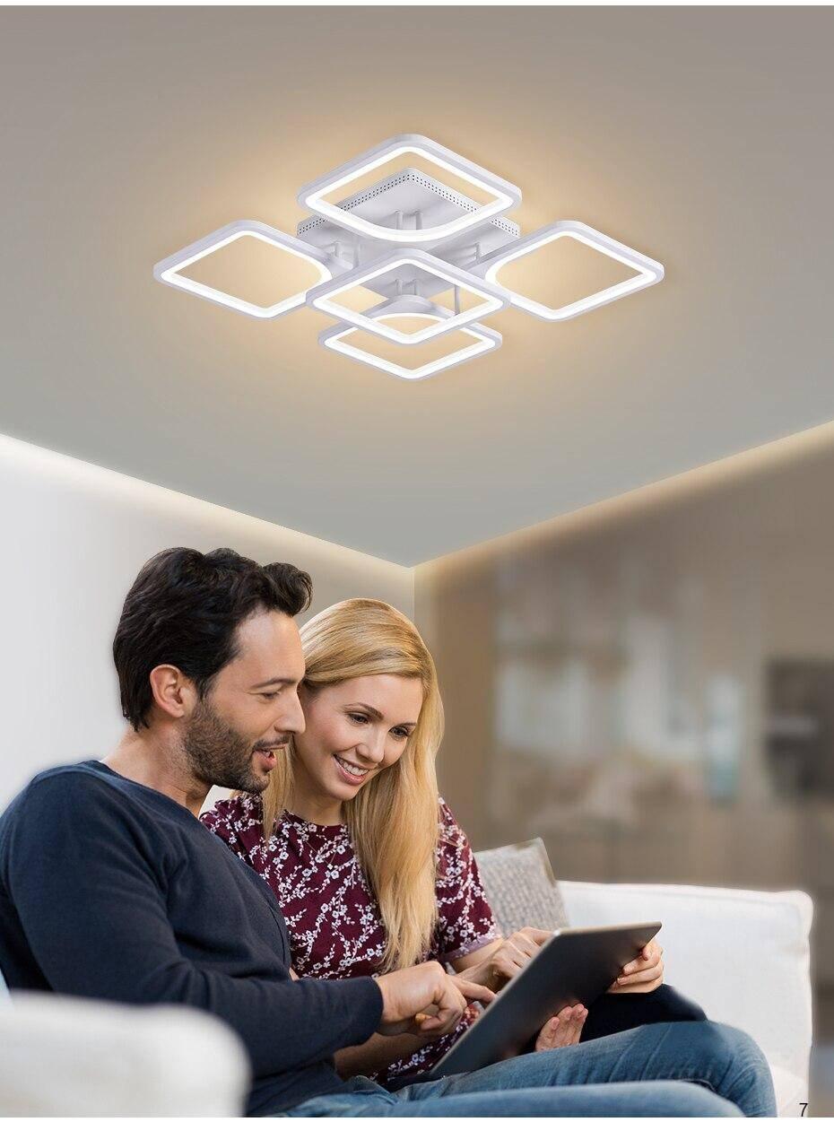 LED chandelier white lights modern luster home lighting fixture