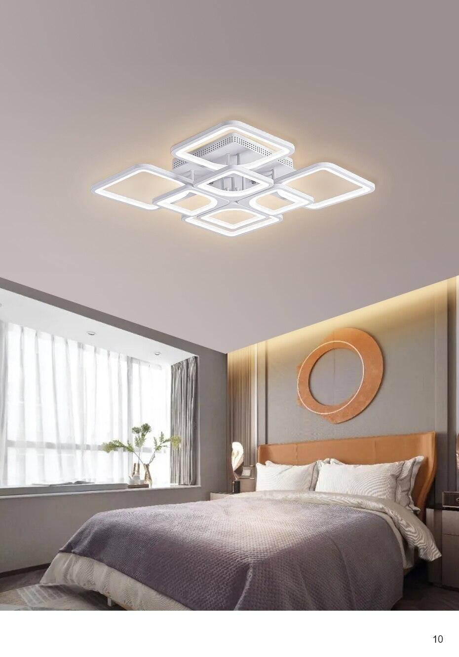 Beautiful design of LED Chandelier white lights, example show case of bedroom led lighting