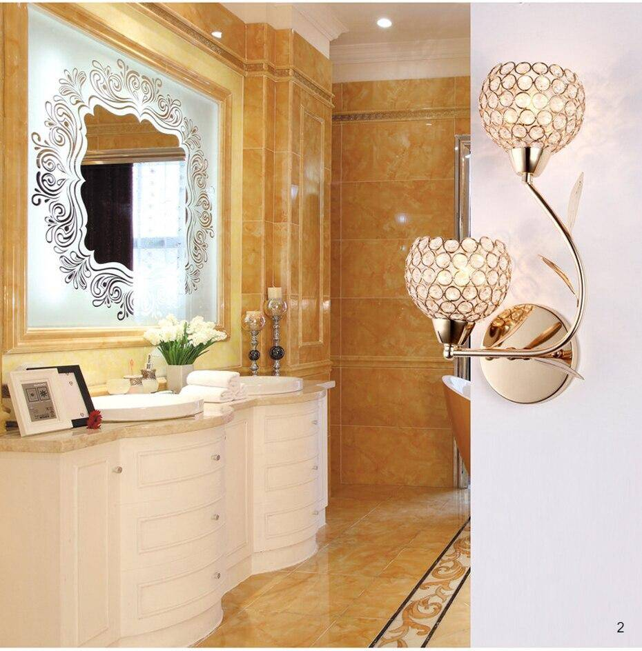 LED crystal wall light modern luxury style E27 art Grade lamp