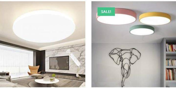 Led lights, moon lights, night lights, ceiling lights, wall mounted lights, table lamp, Pasar Online